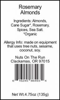 Rosemary Almonds Cone