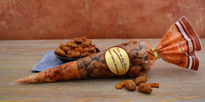 Bacon Garlic Almonds Cone