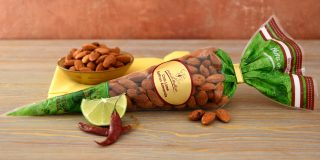 Chili Lime Saffron Almonds Cone