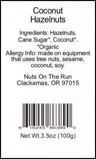 Coconut Hazelnuts Cone