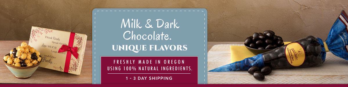 Dark and Milk Chocolate - 100% natural and non-GMO