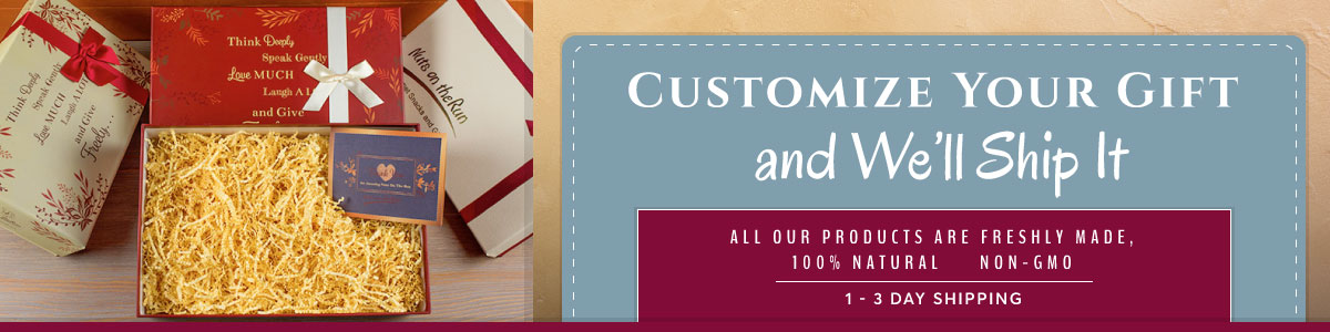 74235a3c1d1 Customize Your Gift Box—100% Natural and Non-GMO Nuts, Cake, Crakers