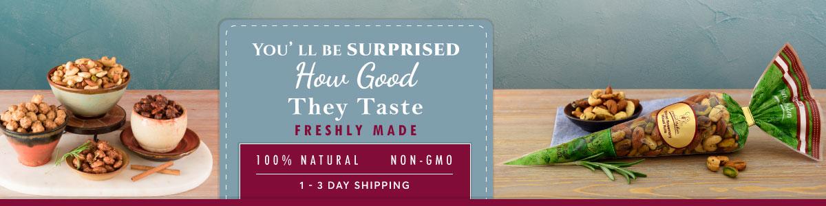 Flavored Mixed Nuts - 100% natural - non-GMO