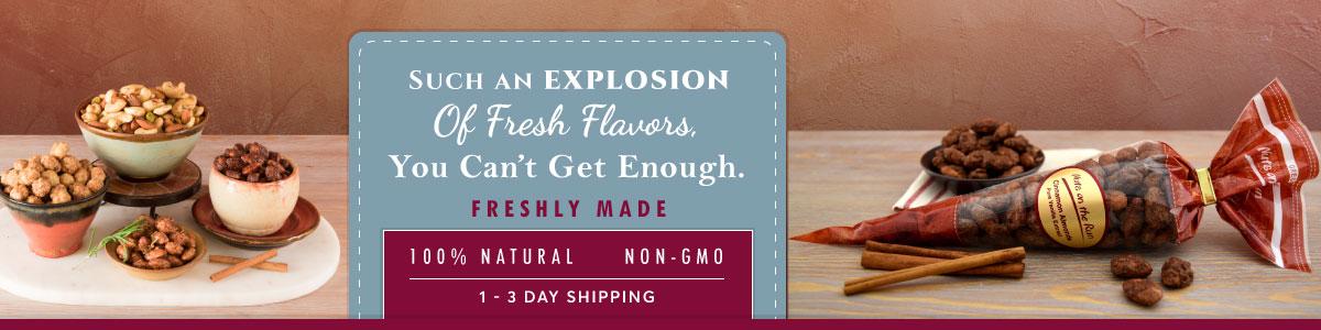 Flavored almonds - 100% natural - non-GMO